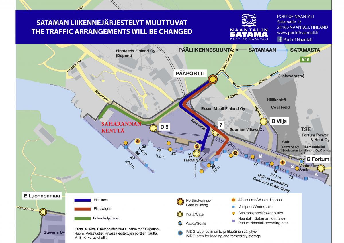 Satamanosat Ja Kartta Port Of Naantali